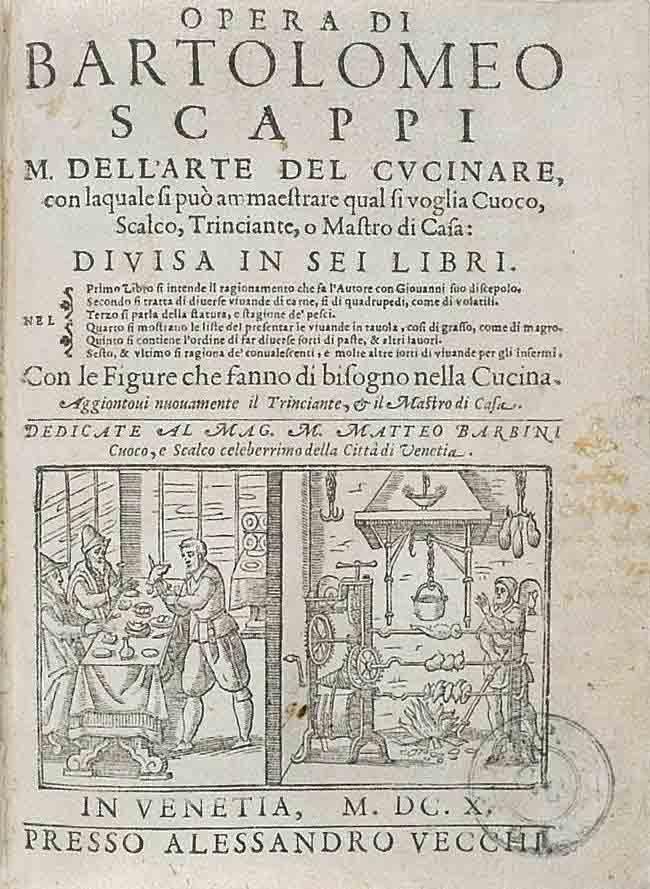 Opera di M. Bartolomeo Scappi