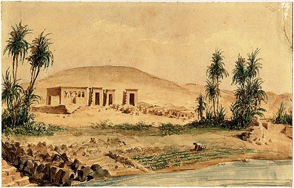 lugar original templo de debod