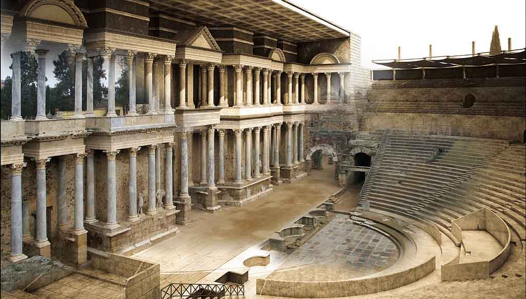 Merida-Teatro-Romano-reconstruccion-virtual