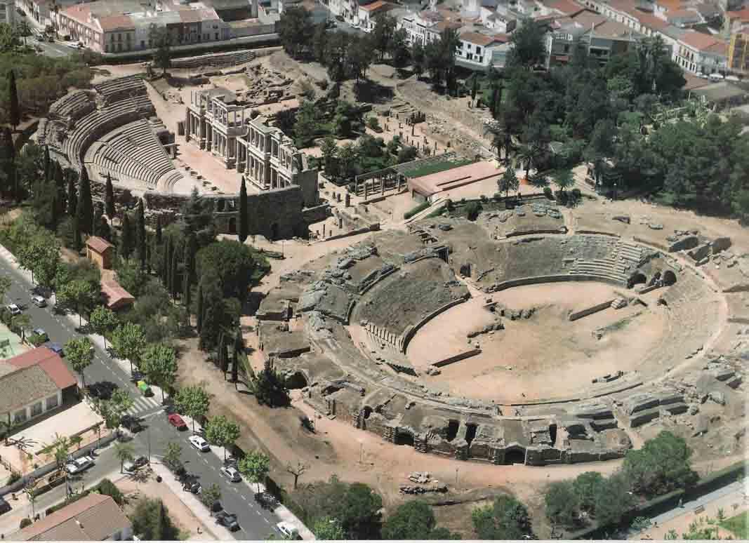 Merida-Teatro-Romano-vista-aerea