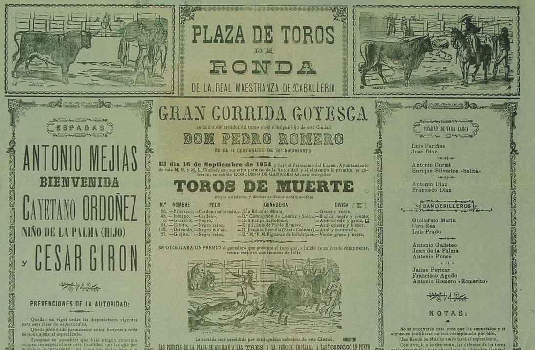 cartel-corrida-goyesca-1954